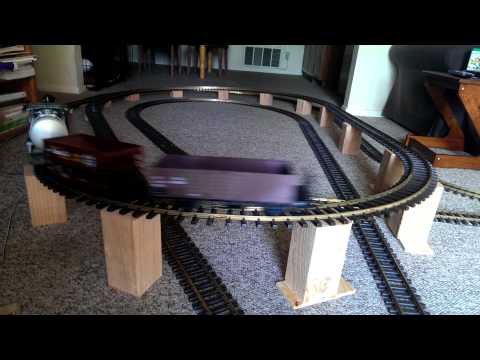 Inexpensive LGB G scale model train bridge