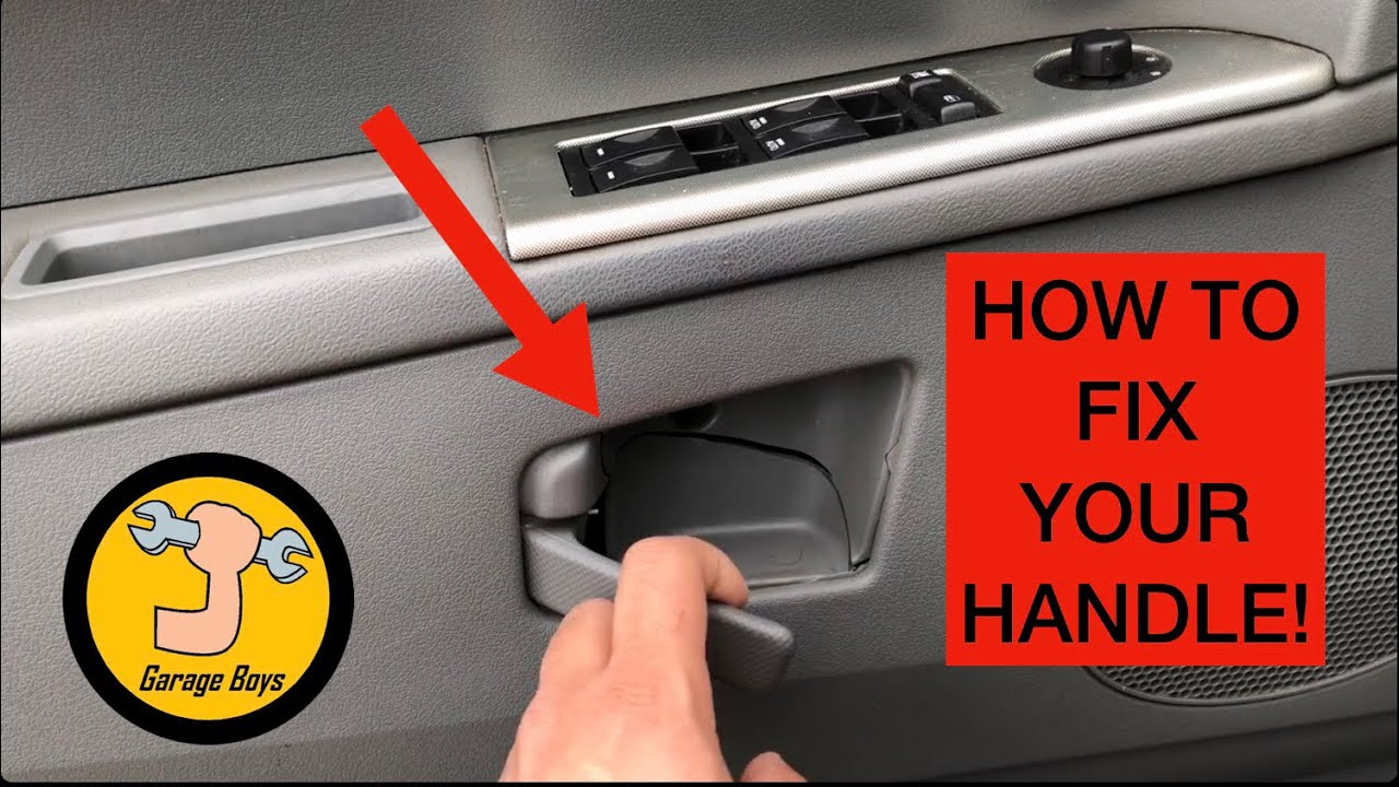 How To Replace Interior Door Handle On Jeep Grand Cherokee Youtube