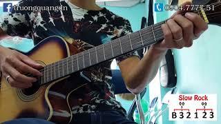 Bài 17: Hướng dẫn Guitar bài Thành Phố Buồn - Quạt Slow rock - intro - cách chạy bass