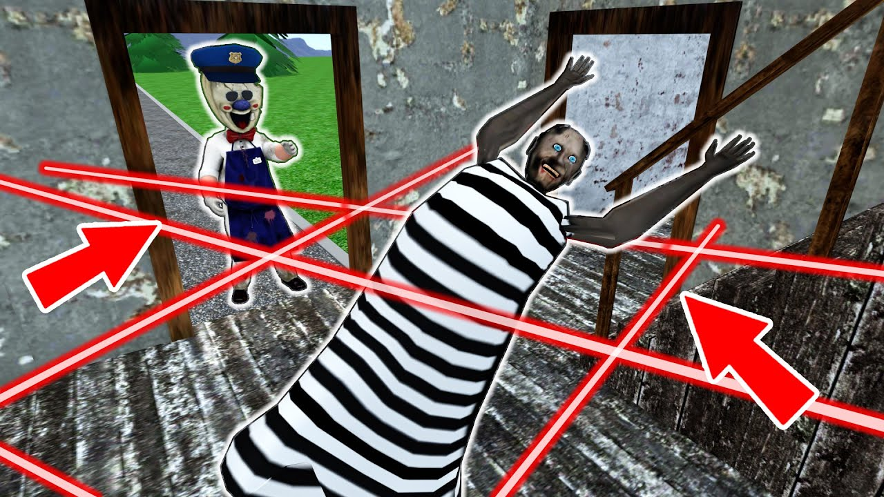 Granny prisoner vs Ice Scream policeman - funny horror animation parody (p.75)