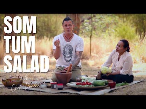 THAI FOOD – GREEN PAPAYA SALAD, SOM TUM RECIPE