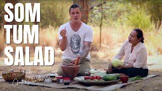 THAI FOOD - GREEN PAPAYA SALAD, SOM TUM RECIPE