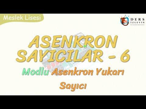 ASENKRON SAYICILAR - 6 / MODLU ASENKRON YUKARI SAYICI
