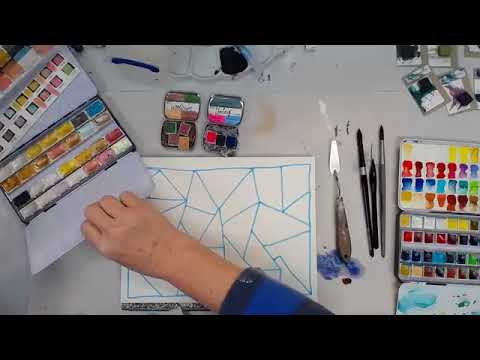Watercolor Play - Testing Molotow Masking Pen -- Patti Tolley Parrish