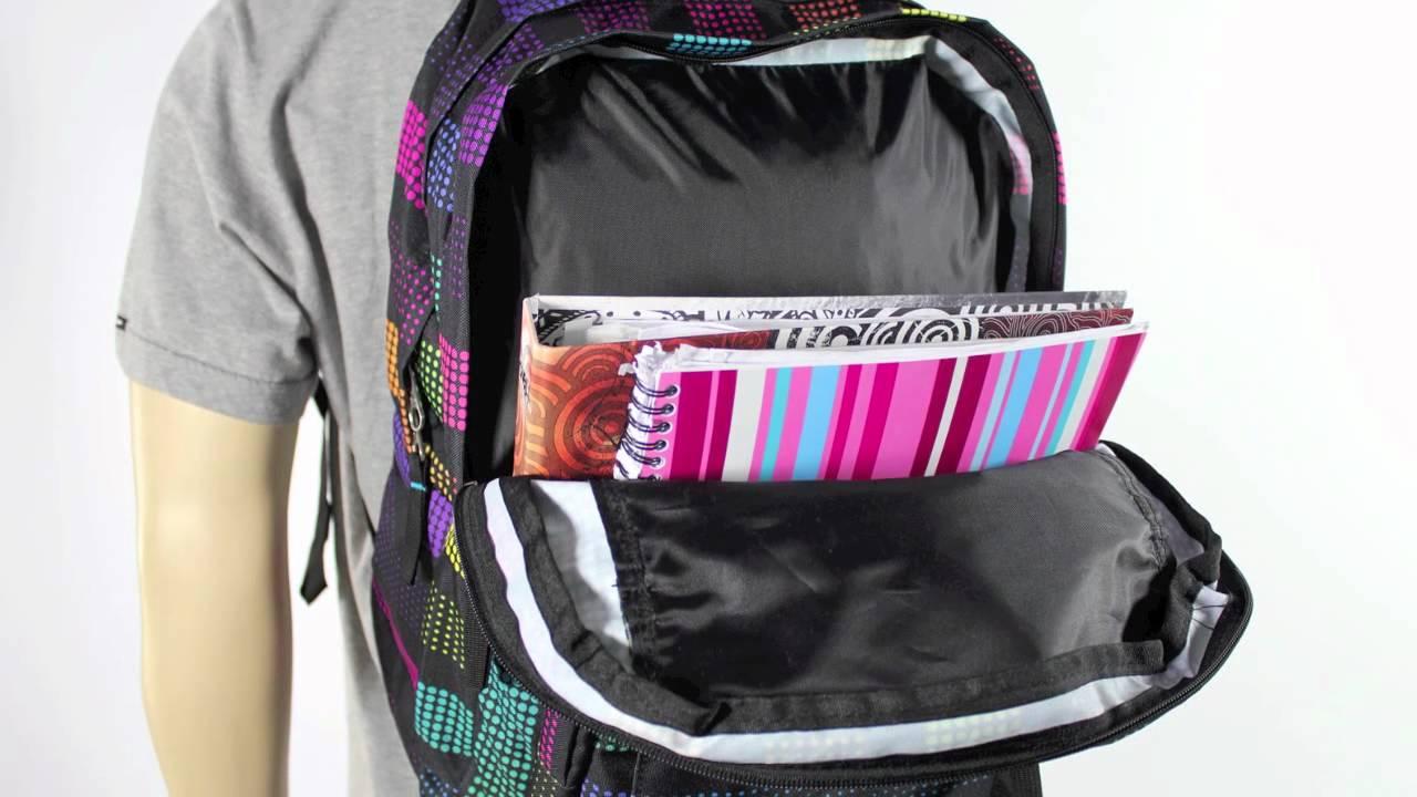 Jansport Big Student Backpack Black/ Multi Disco Dots 34L ...