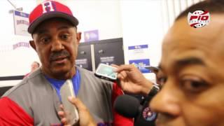 Dirigente Tony Peña habla después del juego entre Dominicana vs Puerto Rico WBC 2017