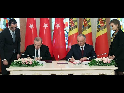 Cumhurbaşkanımız Erdoğan, Moldova Cumhurbaşkanı Dodon ile ortak basın toplantısı düzenledi