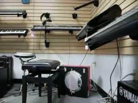 100_0410 KING ARTHUR - Me, Chuck Demonstrating Synthesier Korg At Accent Music Inc .Store De.