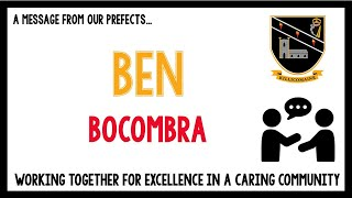 Message from Year 10 pupils - Ben