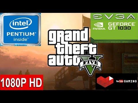 GTA V -- GTA 5 -- Intel Pentium G4560 -- Nvidia GeForce GT 1030 2GB GDDR5 -- Gameplay