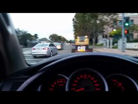 Ken Houston driving his Caterpillar down San Leandro Blvd.