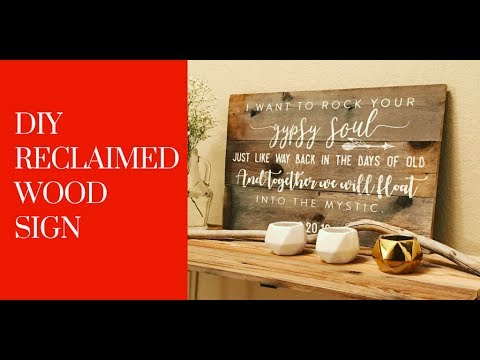 Reclaimed Wood Sign - Part 1