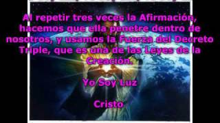 yo soy luz metafisica saint germain sanat kumara maestro cristo ascension decreto hd video