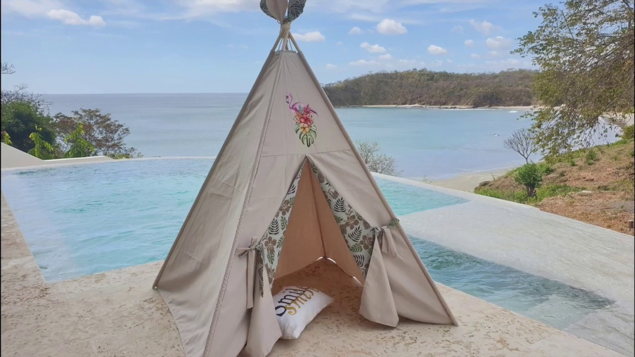 "Easy video instruction ""How to setup kid's teepee play tent""."