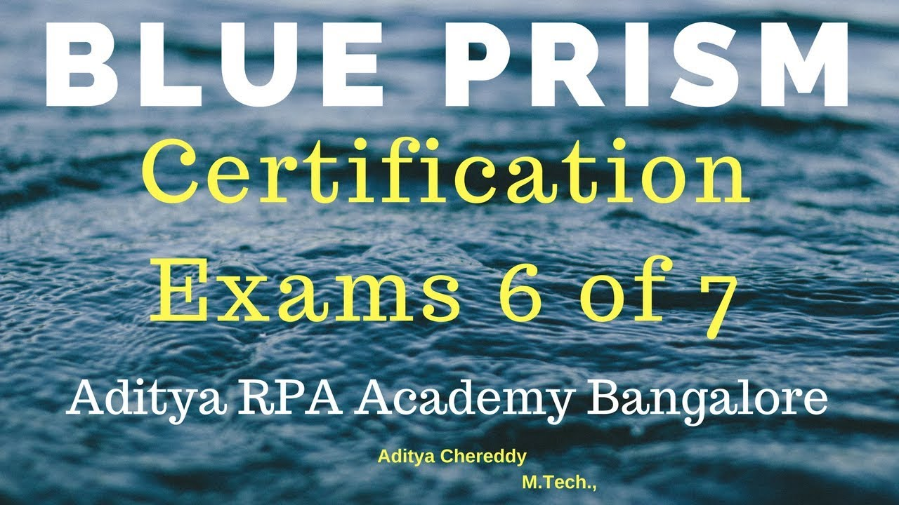 BluePrism RPA Certification Exams BPCE2006-Aditya RPA Academy Bangalore BTM  Layout