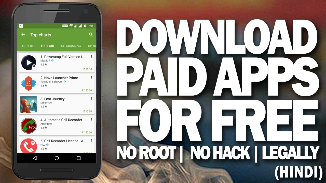 How to download and install paid apps/ games for free on android.