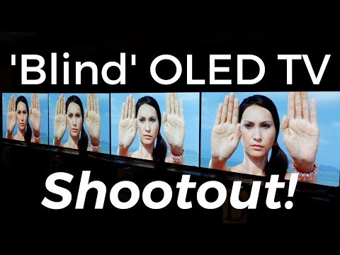 Panasonic EZ952, Sony A1, LG C7 and Philips 9002 'Blind' OLED TV Shootout Comparison Results