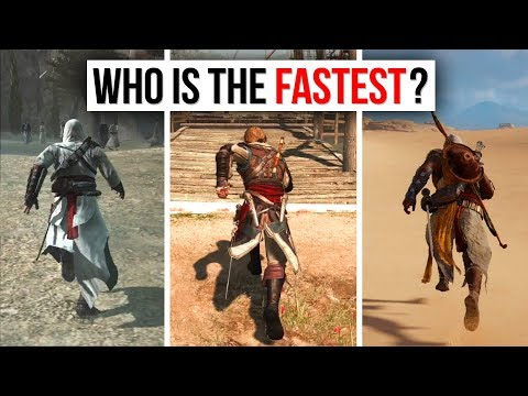 Assassin's Creed - Speed and Movement Comparison (WHO IS THE FASTEST ASSASSIN?)