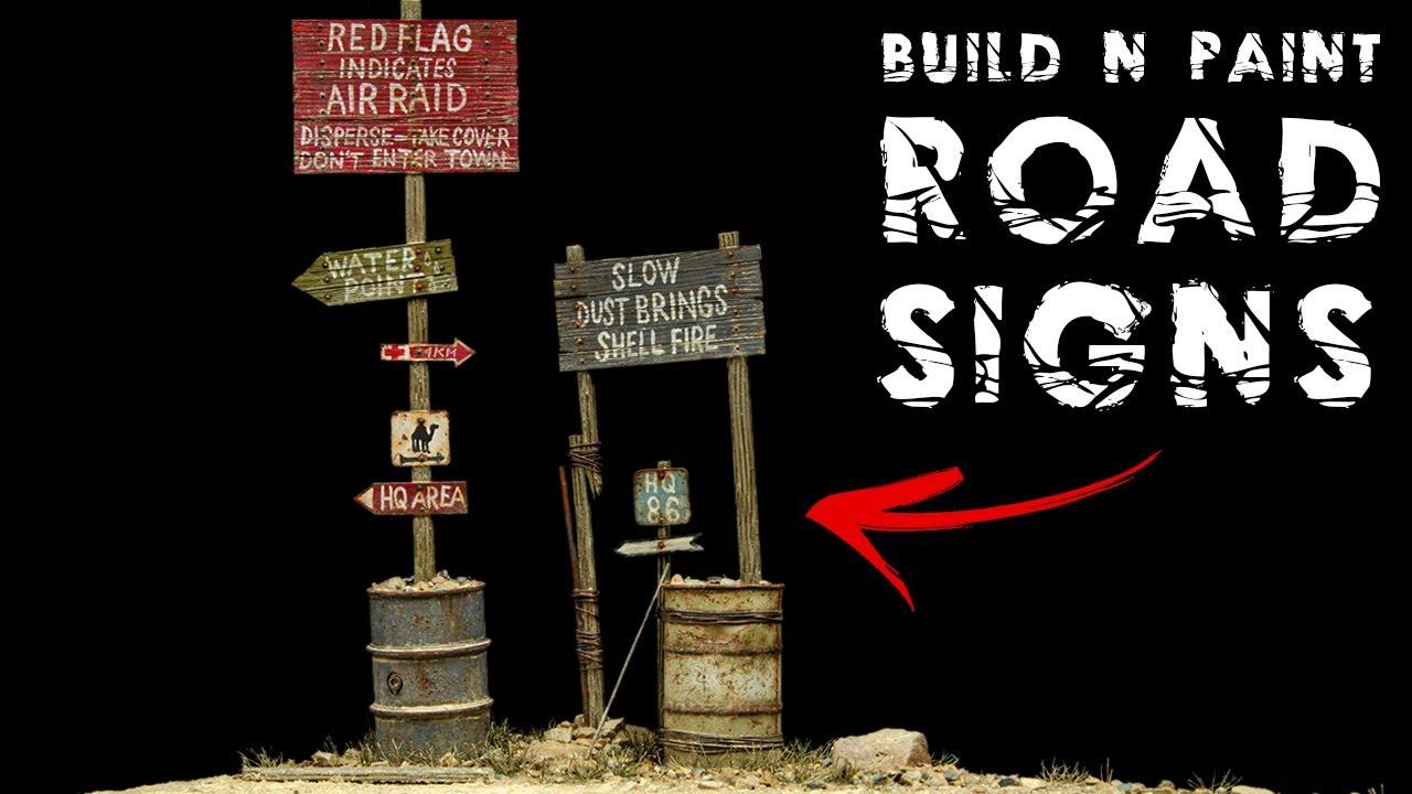 Build &Paint: Miniature Wooden Road Signs
