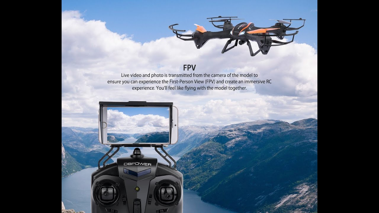 DBPOWER UDI U842 Predator WiFi FPV RC Drone With HD Camera RTF Quadcopter