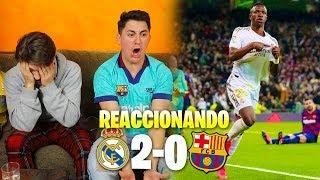 HINCHAS DEL BARÇA REACCIONAN AL MADRID 2 - 0 BARÇA *somos una ...*