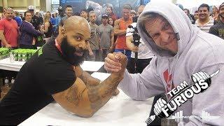 Arm Wrestling vs C.T. Fletcher | Furious Pete