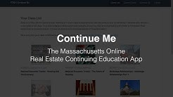 Continue Me - Real estate continuing education, anywhere