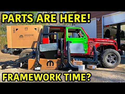 Rebuilding A Wrecked 2020 Jeep Gladiator Rubicon Part 4
