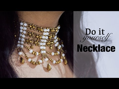 How to make collar necklace | DIY beaded collar |  jewelry making | Beads art
