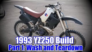 1993 YZ250 Build: Episode 1 | Wash and Tear down