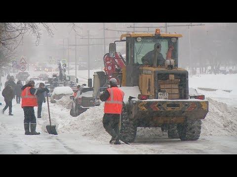 Сильнейший снегопад за зиму / Новости