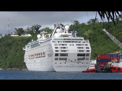 Pacific Explorer P&O cruise ship,  Luganville Santo Vanuatu August 2017