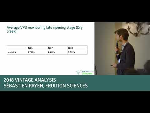 2018 Sonoma Vintage Report - Sebastien Payen - Climate Analysis, Part II