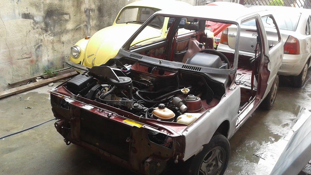 Restaura Carango Fiat Uno 1 6R 1992 Parte 2