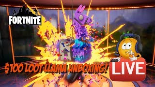 Fortnite Loot Llama Live Unboxing! What $100 will Get! Thanks JT!