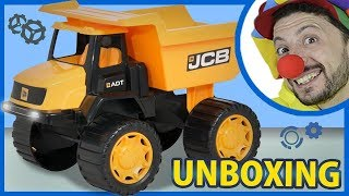 Fish for kids. Funny Clown Bob & Construction vehicles toy Dump Truck Unboxing Video for Kids
