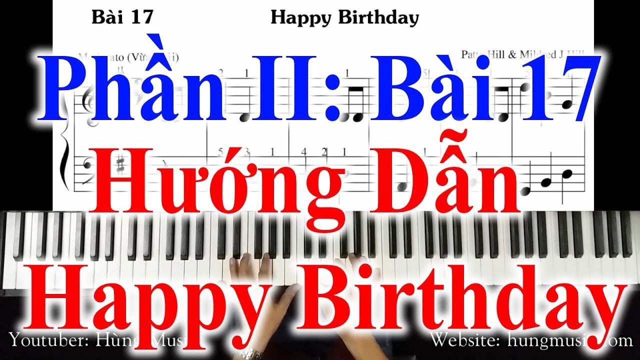 Bài 17  Hướng Dẫn Happy Birthday Piano