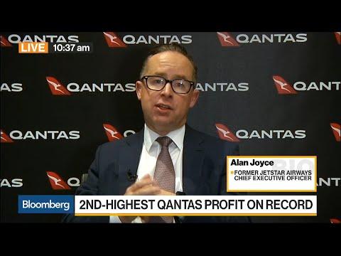 Qantas CEO Joyce on Long Range Flights, Profits