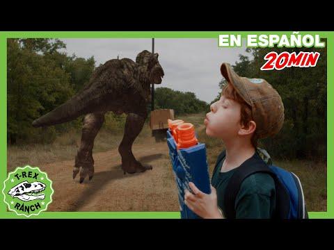Parque De T-Rex | ¡Castillo De Cartón  Con Juguetes Nerf!