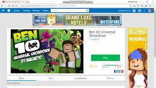 Spelar Roblox Ben:10 Universal Showdown!!!