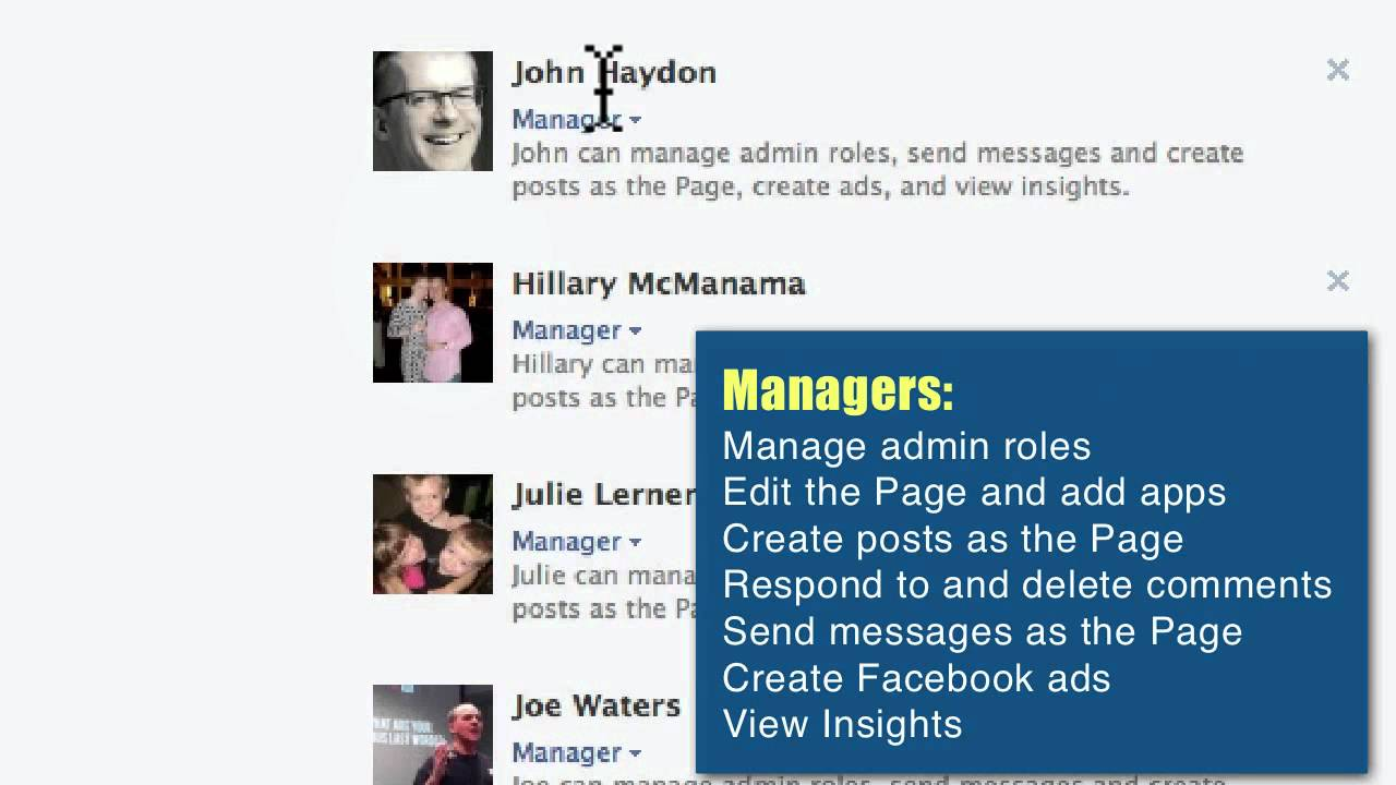 how to see admins on facebook page