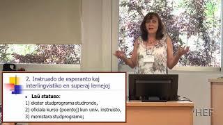 Universitata instruado de Esperanto kaj Esperantologio · Ilona Koutny