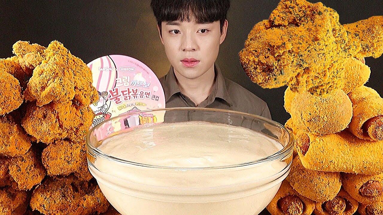 🎉 뿌링클파티 뿌링클 닭다리 치즈볼 핫도그 뿌링뿌링소스 한 통 치킨 먹방 KOREAN SWEET FRIED CHICKEN CHEESEBALL HOTDOG ASMR MUKBANG