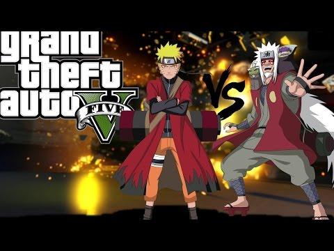 GTA V - Naruto Vs Jiraiya Batalha Épica (MODS)