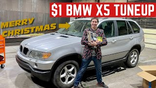 TUNING Up My $1 BMW X5 On CHRISTMAS Day