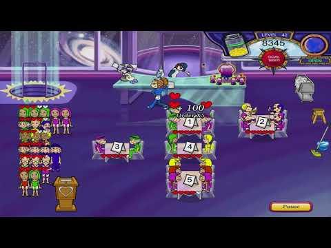 Diner Dash 3 - Flo On The Go Walkthrough - Level #42 - Rocket - Galactic Punch
