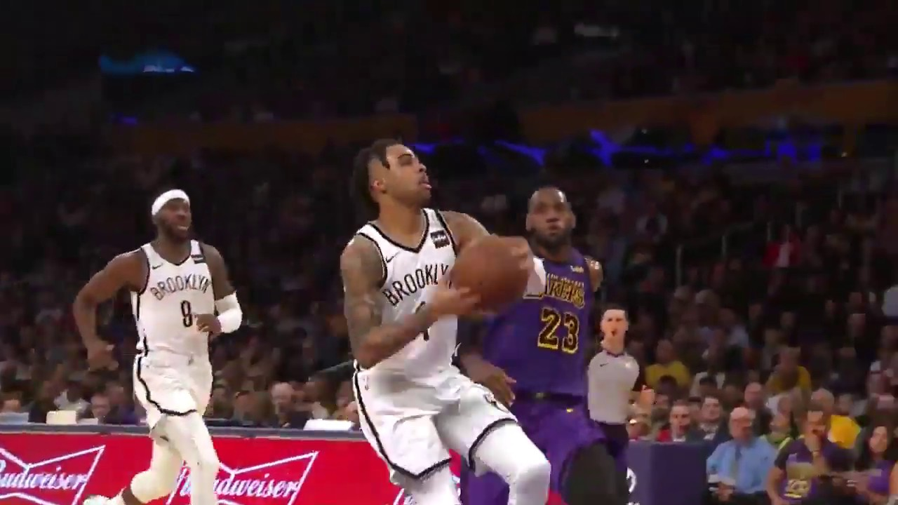 cc01ef09436a LeBRON TRADEMARK CHASEDOWN BLOCK On D Angelo Russell - YouTube