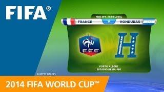 France v. Honduras - Teams Announcement