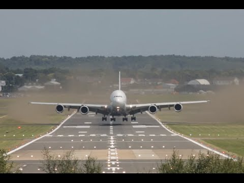 Most Impressive Airbus A380 takeoff almost vertical head-on view