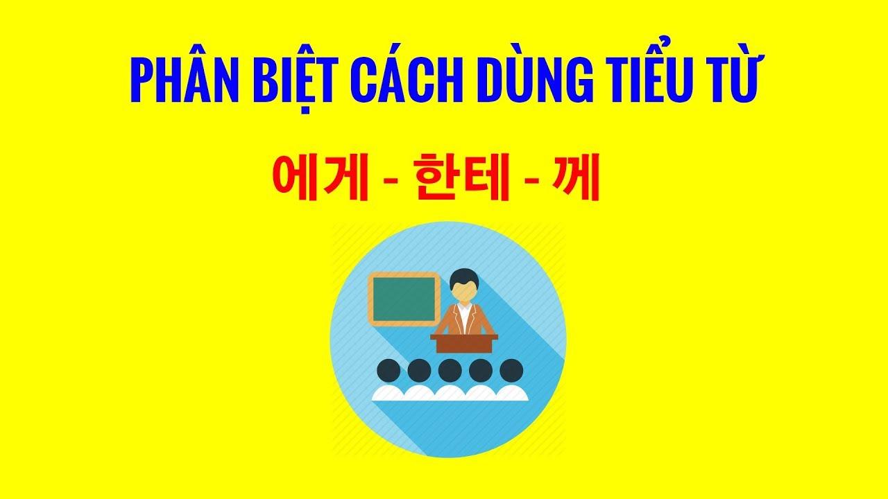 Ngữ Pháp Tiếng Hàn | Phân Biệt Cách Dùng Của Tiểu Từ 에게 – 한테 – 께
